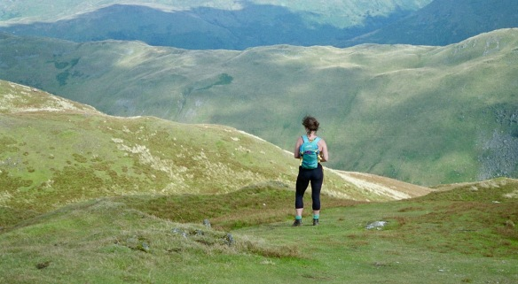 Jessica on Place Fell 18.8.92 7