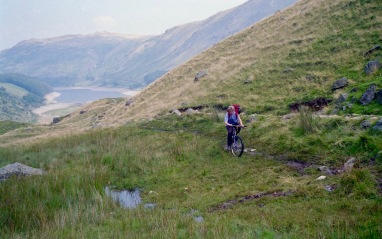 Sam mountain biking above Haweswater 20.8.92