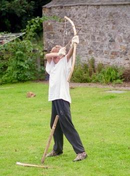 James A firing bow and arrow 21.8.92 2