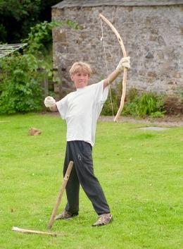 James A firing bow and arrow 21.8.92 3