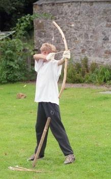 James A firing bow and arrow 21.8.92 4