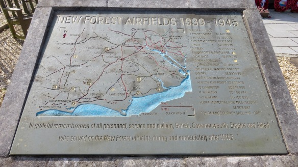 New Forest Airfields map