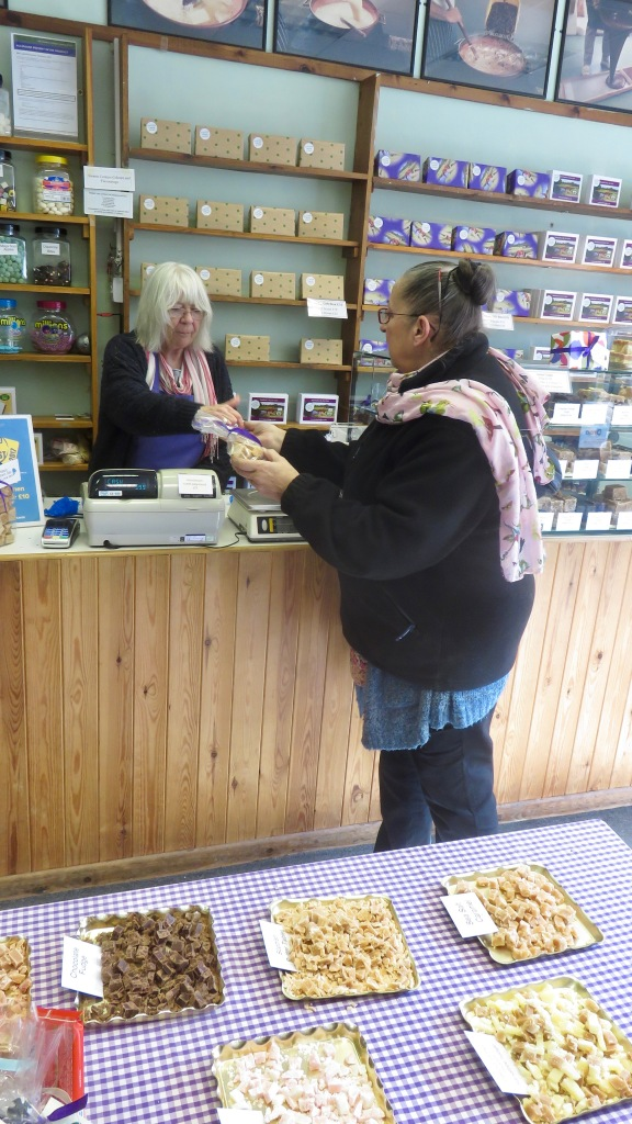 Jackie buying fudge