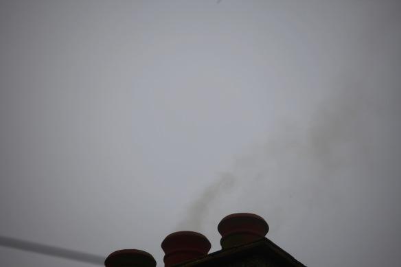 Smoke from chimney