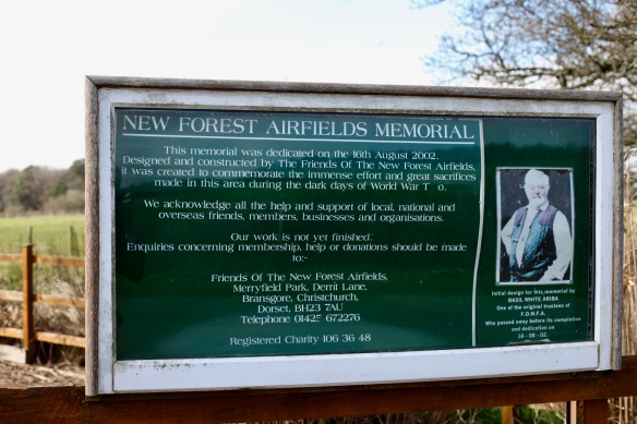 New Forest Airfields Memorial sign