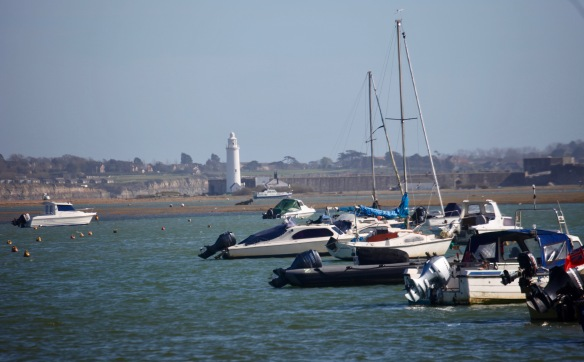 Boats and Hurst lighthouse 2