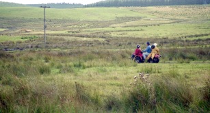 Louisa, Sam, James, and instructure on quad bike 17.8.92 1