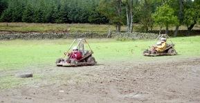 Louisa and Sam on quad bikes 17.8.92 1
