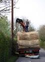 Thatching reeds unloading 1