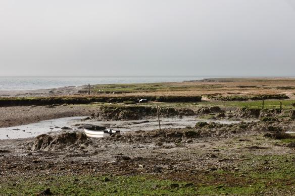 Low tide on flats