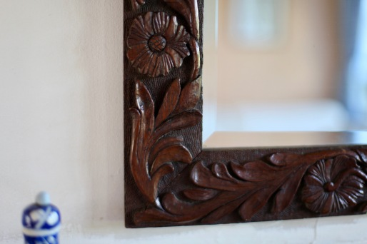 Carving on mirror 1