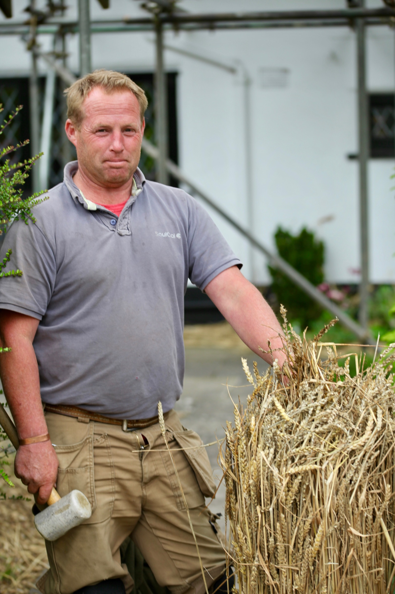 Dave with wheatstraw