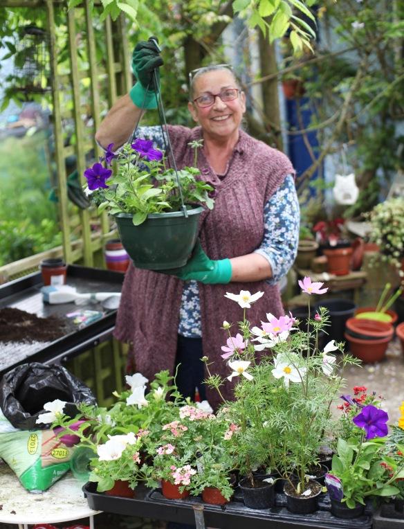 Jackie potting plants 3