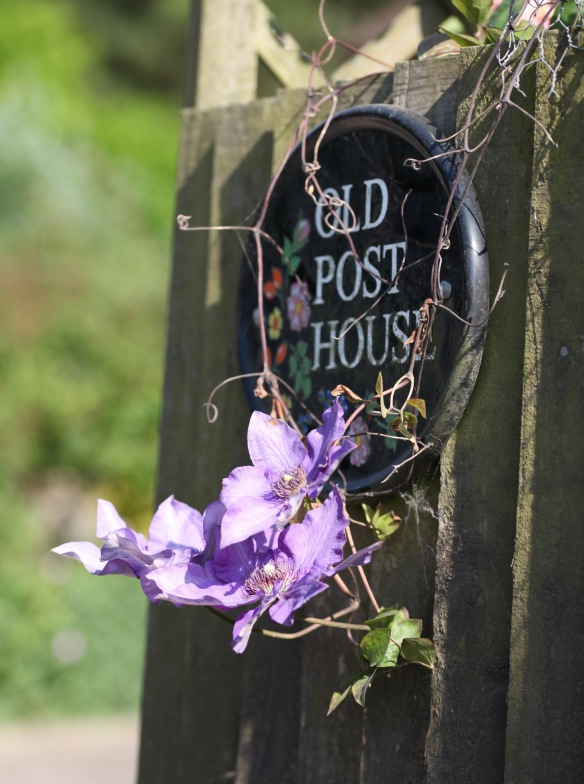 Clematis and Old Post House name