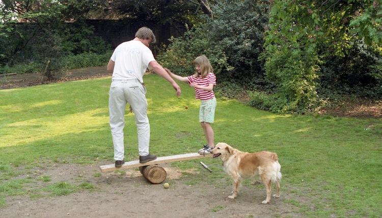 Matthew, Louisa, and Carolines's dog