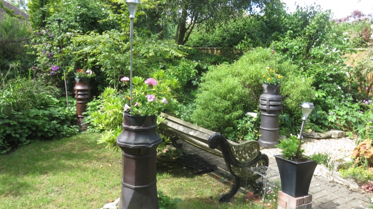 Chimney pots planted