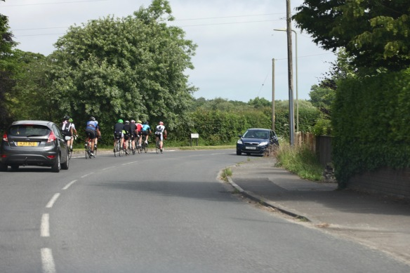 Cyclists on road 1