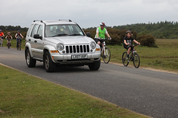 Cyclists on road 2