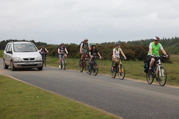 Cyclists on road 3