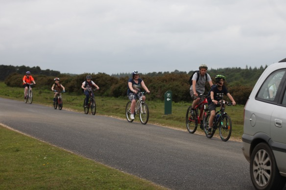 Cyclists on road 4