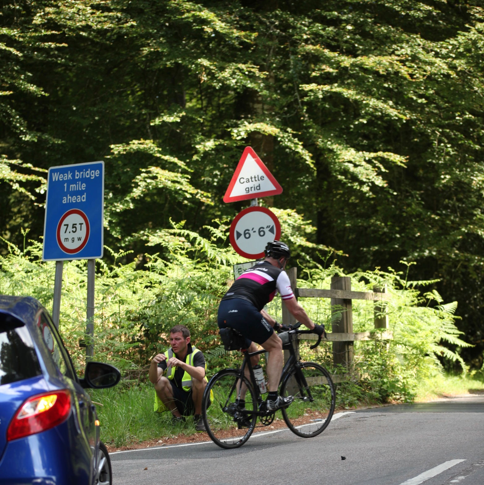 Cyclist and marshall