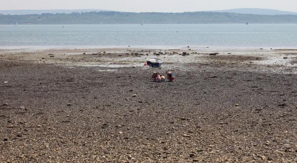 Women and chidren on beach 1