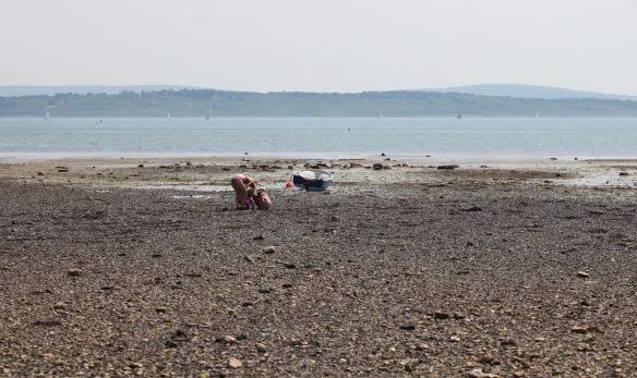 Women and children on beach 3