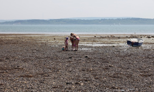 Women and children on beach 4