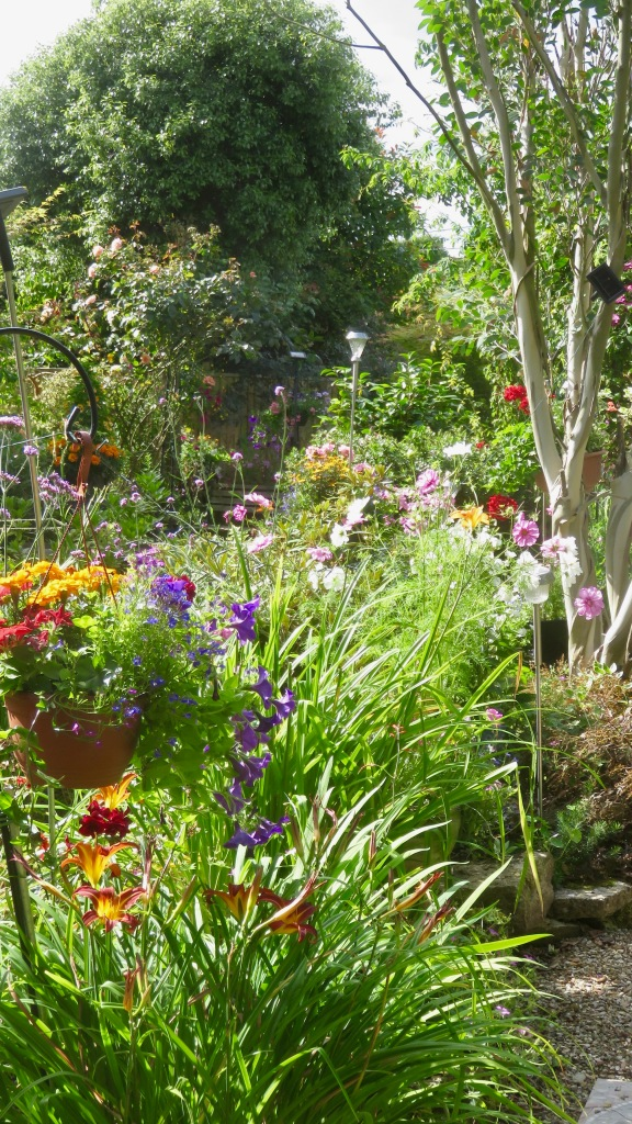 Garden view from corner of Margery's Bed