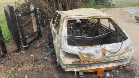 Burnt out car 1