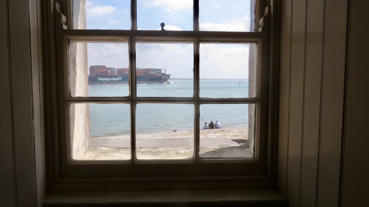 Watching container vessel