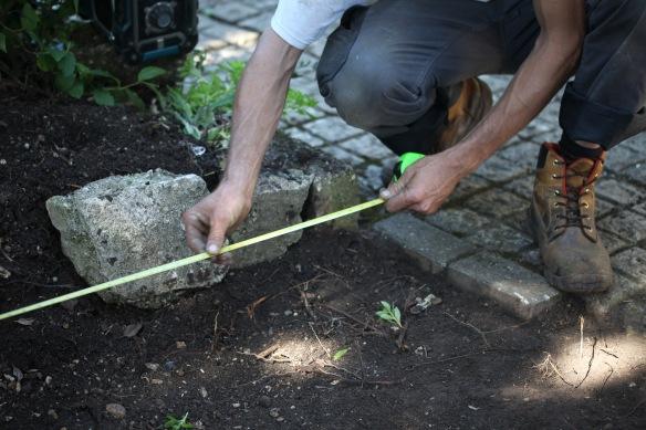 Aaron laying greenhouse base 3