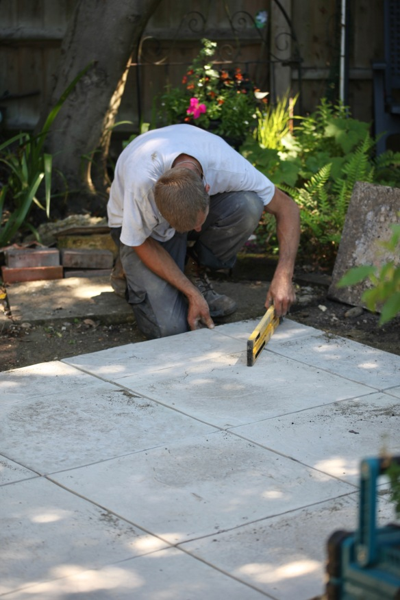 Aaron laying greenhouse base 10