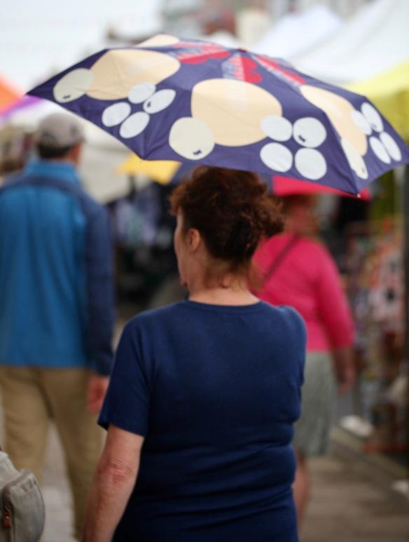 Woman with umbrella 1