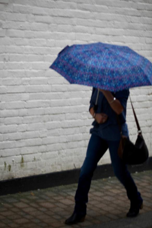 Woman with umbrella 3