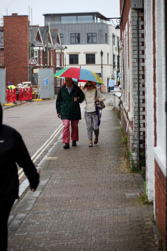 Couple under umbrella 2