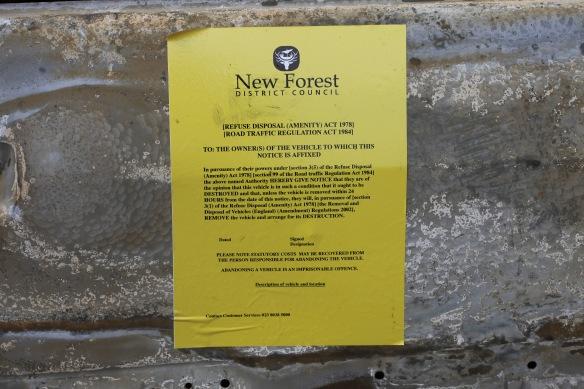 Refuse disposal notice