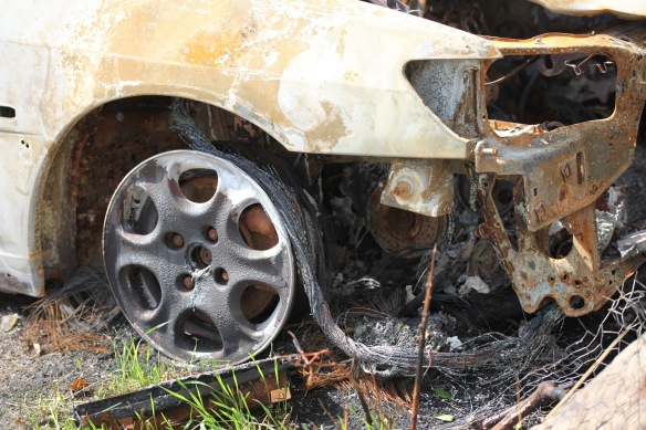 Burnt out car 8