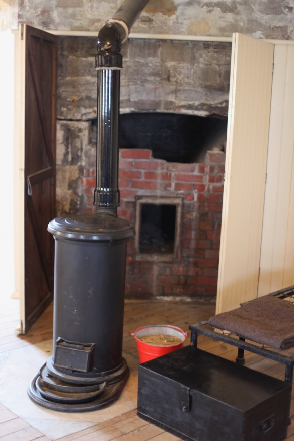 Tudor chimney and stove