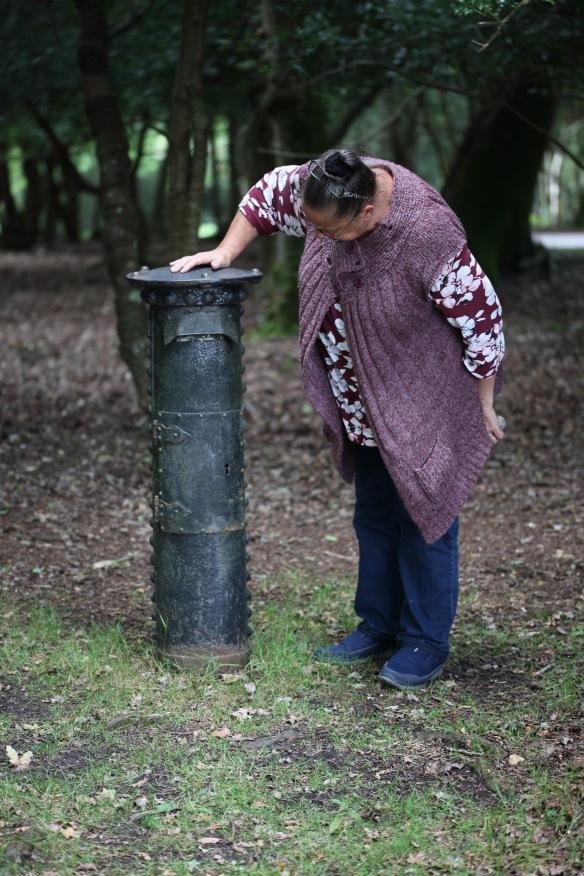Jackie at Powder Mill post box