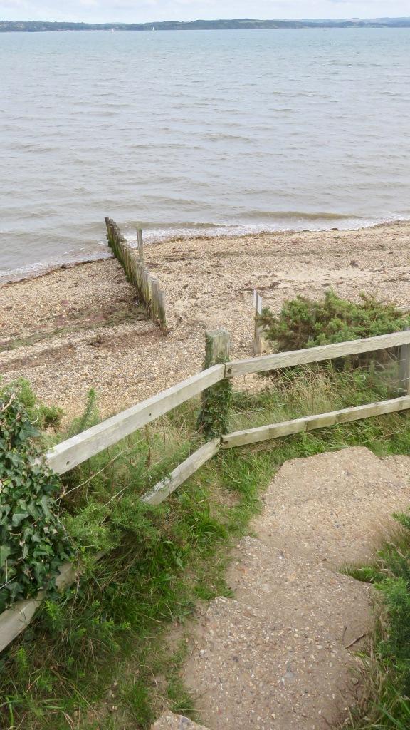 Steps down to beach 1