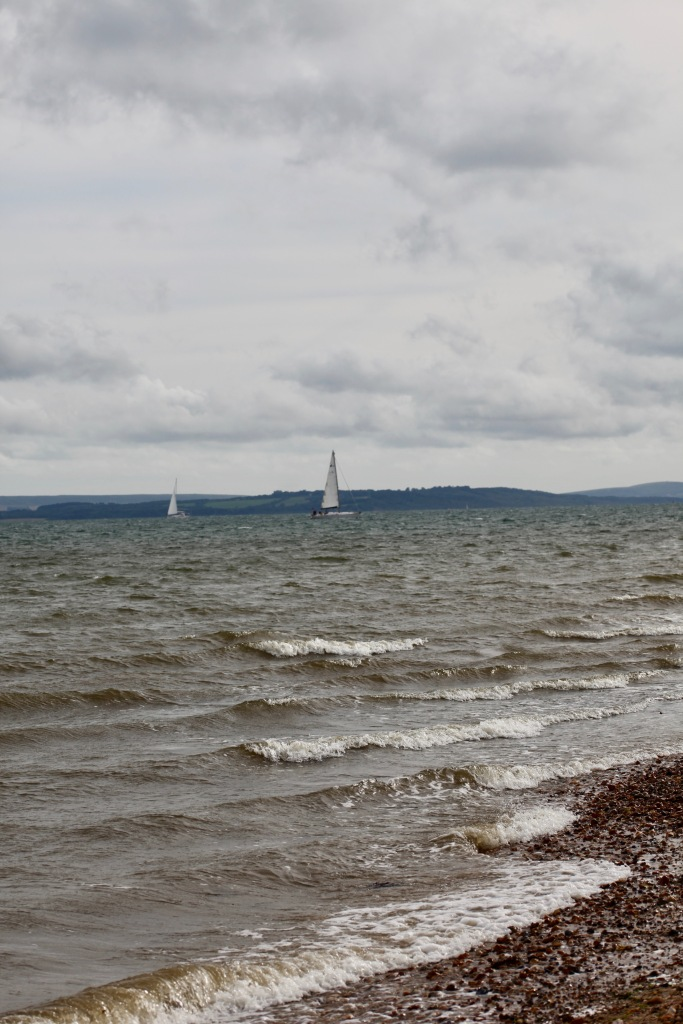 Yachts passing Isle of Wight
