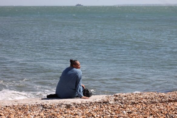 Jackie viewing Isle of Wight 1