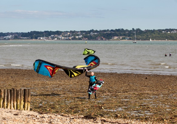 Packing up the kite 2