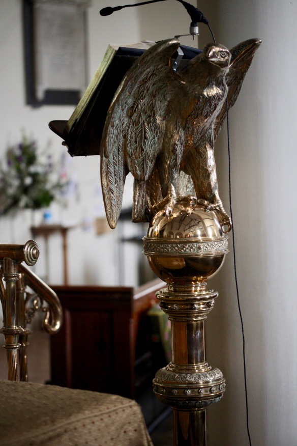 Eagle lectern St James's Church