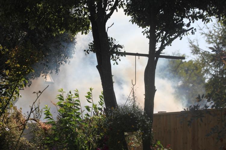 Bonfire in North Breeze garden 2