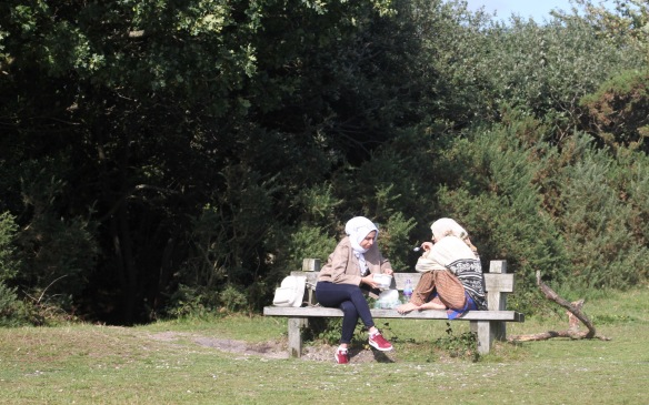 Women on bench