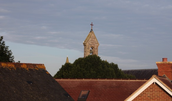 Doves and belfry 2