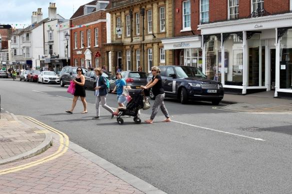 Family crossing road 2