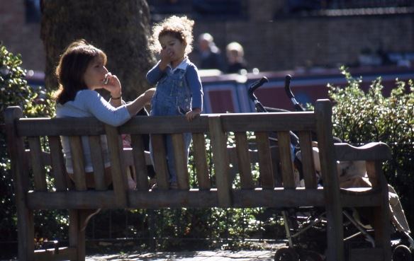 Woman and child on bench 10.04 2